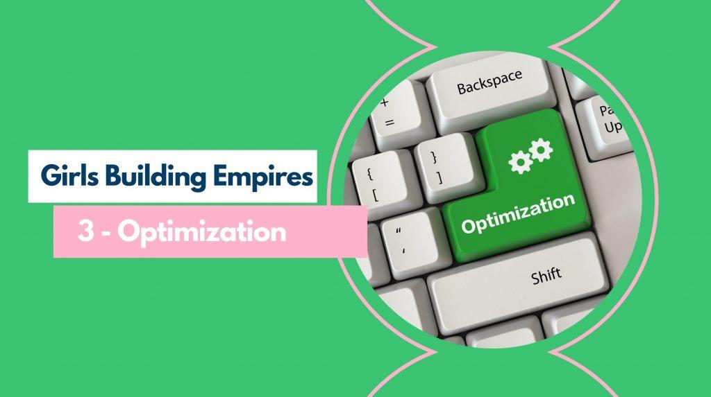 GBE Part 3 - Optimization